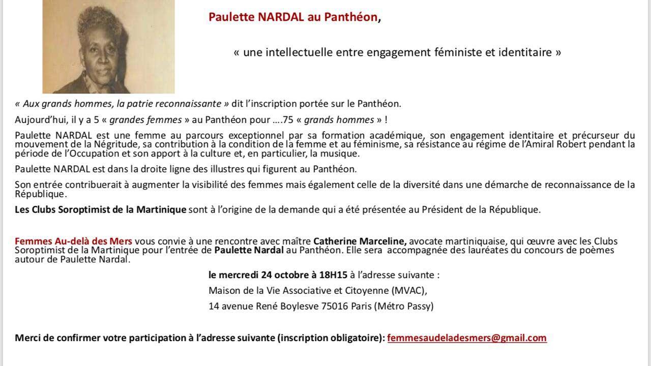 Flyer conférence Paulette Nardal